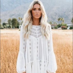 Kiss Kiss Embroidered Lace Tunic